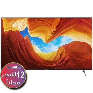 Sony TV 65 Inch, 4K Ultra HD, HDR, LED, Android, Smart - KD-65X9000H - (Shahed subscription for 12 months)