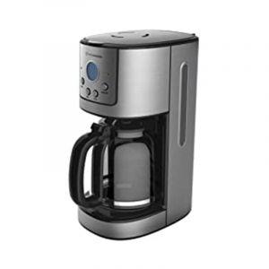 هومر صانع القهوة 1.8 لتر، 900 واط، شاشة رقمية بدون اضاءة، رمادي - HSA241-02