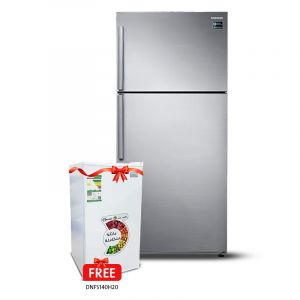 Samsung Refrigerator 2 Door,18.5cu.ft , 528L, Top Freezer with Twin Cooling Plus, Silver- RT53K6100S8B