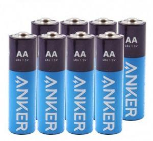 Anker AA Alkaline Batteries, 1320mAh, 8-Pack - Blue - B1820H13