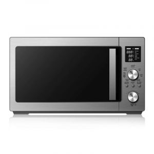 White Westing House Microwave 25 Liter, 900 Watts, Digital, Air Fryer, Convection function, Steel - WMW25VAF