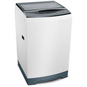 Bosch Top Load Washer, 11 KG, Drum Soft Closing Glass Lid, White - WOE111W0SA