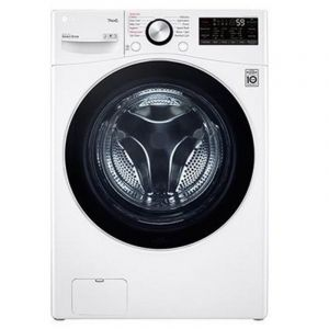 LG Washing Machine Front Load, 14 kg, Dry 100% 8 kg , Inverter Direct Drive, Wi-Fi, White  - WS1408WHT