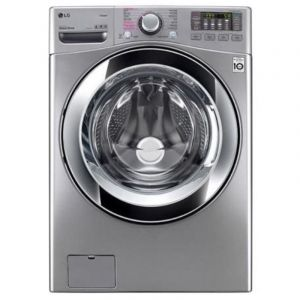 LG Washing Machine , Automatic ,Front Load ,Capacity 16 Kg ,Drying Capacity 10 kg ,6 movements,Wi-Fi ,Silver,True Steam ,Turbo Dry,Inverter Direct drive Motor - WS1610XM