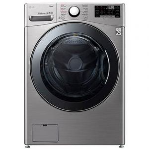 LG Washing Machine Front Load, 17 kg, Dry 100% 10 kg , Inverter Direct Drive, Wi-Fi, Silver/Steel - WS1710XMT