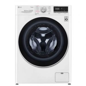 LG Washing Machines Front Load, 9 kg ,Dryer 100% 6kg ,1400 Cycle ,White - WSV0906WH