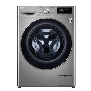 LG Washing Machines Front Load, 9 kg ,Dryer 100% 6kg ,1400 Cycle ,Silver - WSV0906XM