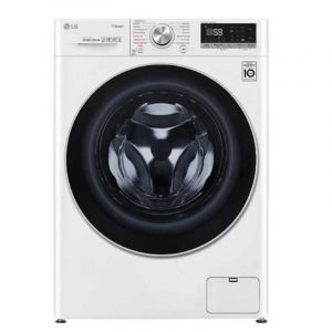 LG Front Loading Automatic Washing Machine 100% Dry, 10.5 kg, Drying 7 kg, 1400 cycles, 6 motions, Wi-Fi, Steam, White - WSV1107WHT