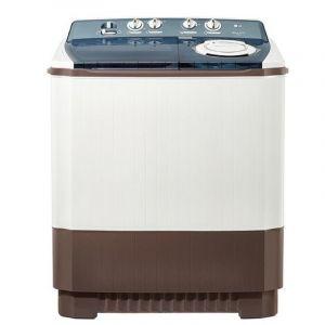 LG Twin Tub Washing Machine , 10.5 Kg , 3 Wash Program, Gray - WTT10PGW