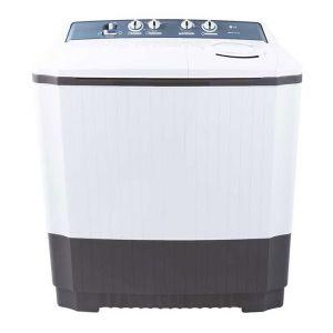 غسالة ملابس ال جى حوضين - هيكل بلاستيك -  برامج متعددة - أبيض -تنشيف 75%- سعة 12 كيلو  , WTT12PGW