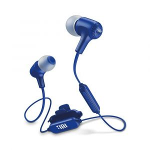 سماعات E25 في الاذن بتصميم بلوتوث لا سلكي من جي بي ال - ازرق