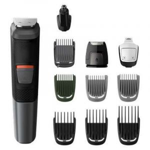 فيليبس ماكينة حلاقة للوجه والجسم - 11 فى1, 11 اداة, تقنية الإزالة الثنائية , إستخدام لاسلكي 80 دقيقه -يمكن إستخدامها في الحمام-MG5730/13