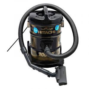 هيتاشي مكنسة برميل , سعة 18 لتر , قدرة 2000 واط , أسود - CV-945F SS220 BK