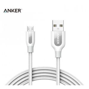 Anker PowerLine+, Micro USB, 6FT, White - A8143H21