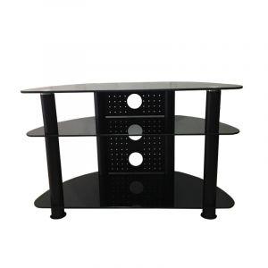 طاولة شاشة بدون استاند , 3 ارفف, من 32-42 بوصه, ستيل / زجاجي - AVS-C101B