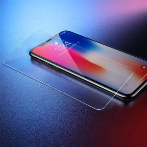 باسيوس واقٍ للشاشة من الزجاج المقوى لهاتف أبل آيفون XR , شفاف - SGAPIPH61-ES02