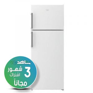 For the website only,,,, Beko Refrigerator 2 Door, 14.4 Cu.Ft, 406 L.T, White -  RDNE14C4K21W  - (Shahed VIP subscription for 3 months)
