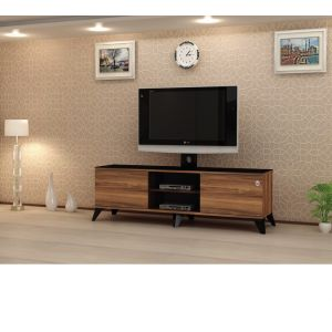 TV table  FOR TV 43 INCH Without Stand , Walnut-  CR43-130H