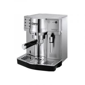ديلونجي جهاز صنع القهوة الاسبريسو المتميزة مصنوعة من الستانلس ستيل، فضي - DLEC860.M