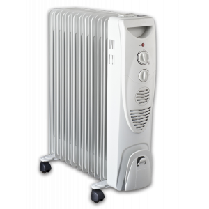 ATC Oil Heateri 11 Fins 2500 Watt - White-AMHO1125PWG