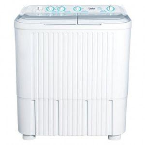 غسالة ملابس هاير حوضين  سعة 8 كيلو - فتحة علوية - برامج متعددة - أبيض - HWM110-0713PF