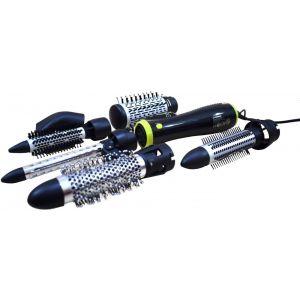 هومر فرشاة شعر محرط تيار مستمر وقابس دوار 360 لفة - خاصية ضبط المفاتيح 0-1-2 , قدرة 1000: 1200واط + ملحقات , أسود/أصفر - HSA232-06