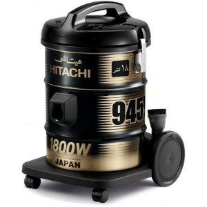 مكنسة هيتاشي م/CV-945Y (برميل - سعة 18 لتر ـ قدرة 1800W-جسم معدنى قوى -سهوله الاستخدام