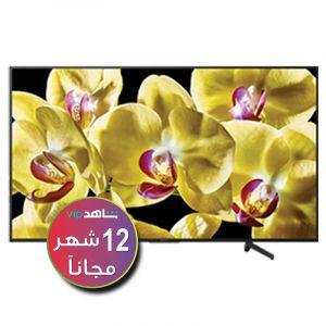 تليفزيون سوني 55 بوصة ذكي, 4 كيه, اتش دي آر,  ال اى دي-  KD-55X8077G  (اشتراك شاهد لمدة 12 شهر)