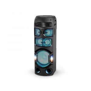 سوني نظام صوتي عالي القدرة مع تقنية البلوتوث ,اتش دي ام اي, اضاءة 360 درجه  -   MHC-V82D