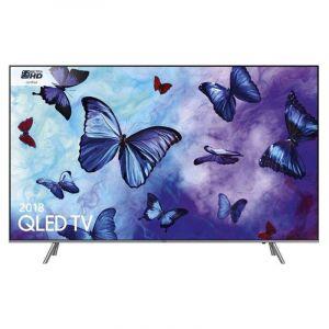 تليفزيون سامسونج كيو ال اي دي مسطحة  55 بوصة,4 كيه , تقنية ذكية - فضي -QA55Q6FNARXUM