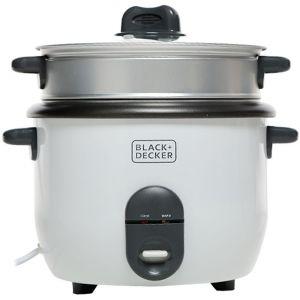 بلاك اند ديكر طباخ أرز سعة 1.8 لتر أوتوماتيك , أبيض-RC1860-B5
