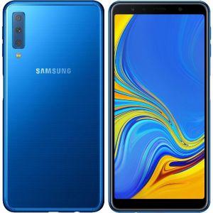 سامسونج جالكسي ايه 7 اصدار 2018 سعة 128 جيجابايت أزرق ،الجيل الرابع 4G
