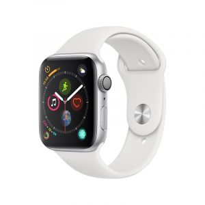 Apple Watch Series 5 , 44mm Silver Aluminum Case with White Sport Band