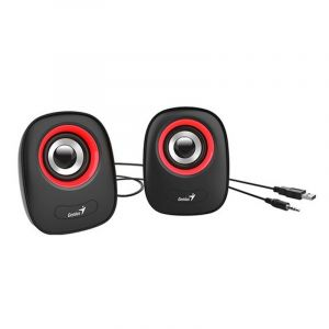 جينيس سماعات كمبيوتر يو اس بي , احمر - SP–Q160
