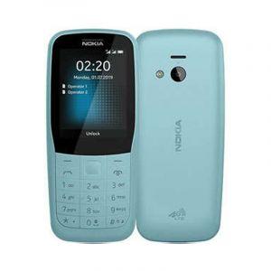 نوكيا 220 شريحتين اتصال, شاشة 2.4 بوصة, شبكة الجيل الثاني, ذاكرة 24 ميجابايت, رام 16 ميجابايت,ازرق - TA1155