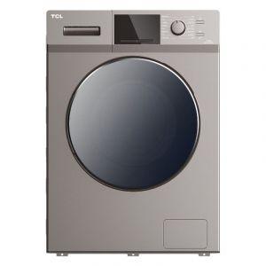 تي سي ال غسالة ملابس منزلية تعبئة امامية, سعة 8 كجم, تجفيف 75% , فضي - TWF80-M14303DA03-05