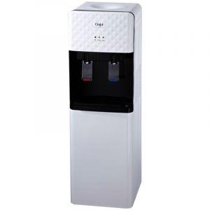 برادة مياه EMJOI استاند م/UEWD-261 (عدد 2 بزبوز حار بارد - خزان مصنوع من ستانلس ستيل غير قابل للصدأ - تبريد 2 لتر - قدرة تسخين 5 لتر - أبيض)