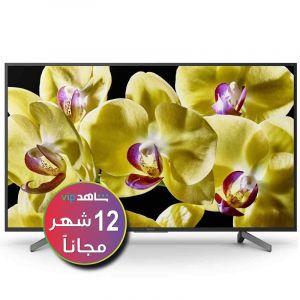 تليفزيون سوني 55 بوصة ذكي, 4 كيه الترا اتش دي , اتش دي ار, اندرويد , أسود - KD-55X8500G - (اشتراك شاهد لمدة 12 شهر)