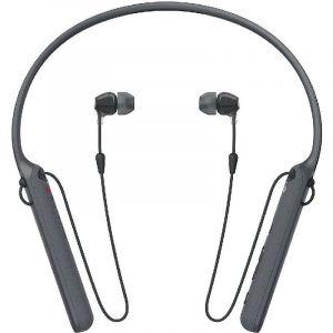 سوني ،دبليو آي سي 400 ،سماعات داخل الاذن مع طوق رقبة ،بلوتوث/NFC ،ميكروفون مدمج ،أسود
