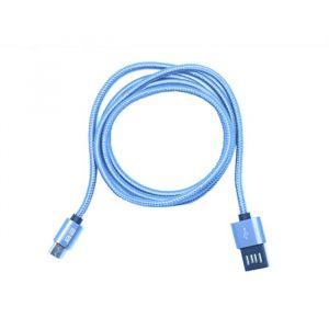 كابل تو بى ذو وجهين من USB Cable الى Micro 5Pin ، أزرق - CV-07-7