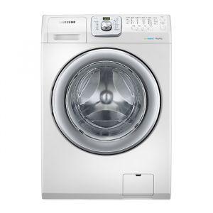 غسالة ملابس سامسونج اتوماتيك -  فتحة أمامية - تنشيف 100% - أبيض -  سعة 14 كيلو   - WD14F5K3ACW