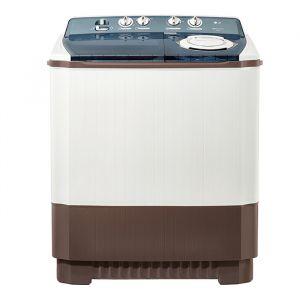 غسالة ملابس ال جى حوضين - هيكل بلاستيك -  برامج متعددة - أبيض -تنشيف 75%- سعة 8 كيلو  , WTT08PGW