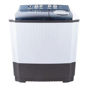 غسالة ملابس ال جى حوضين - هيكل بلاستيك -  برامج متعددة - أبيض -تنشيف 75%- سعة 15 كيلو  , WTT15PGW